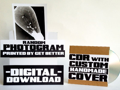 Digital Album + Custom Handmade CDR + Random Photogram printed by Get Better