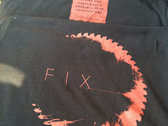 F I X Red on Black Shirt