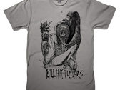 Kill the Vultures: [Black on Grey Shirt]