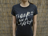 Tigers on a Leash Logo T Shirt (Black)