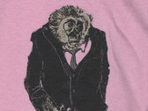 Mr. Gibbon Tee SHirt - Women's Pink V Neck - MEDIUM ONLY
