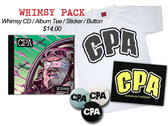 Whimsy CD Pack (Physical CD/CPA Logo Tee/Sticker/Button included)
