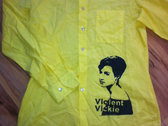 Violent Vickie button down shirt (yellow)