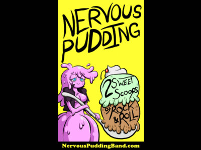 Nervous Pudding Stickers