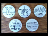 Penguin Party LYRIC QUOTE badges