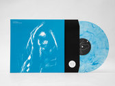 "Blue marbled 12"" w/ screenprinted cover"