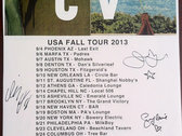 DTCV US Fall Tour 2013 poster