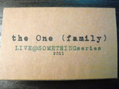 "AMOK054 - the One (family) - ""Live @ SOMETHINGseries"" CASSETTE"