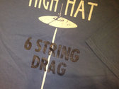 6 String Drag Logo & High Hat Shirt - LAKE BLUE ONLY