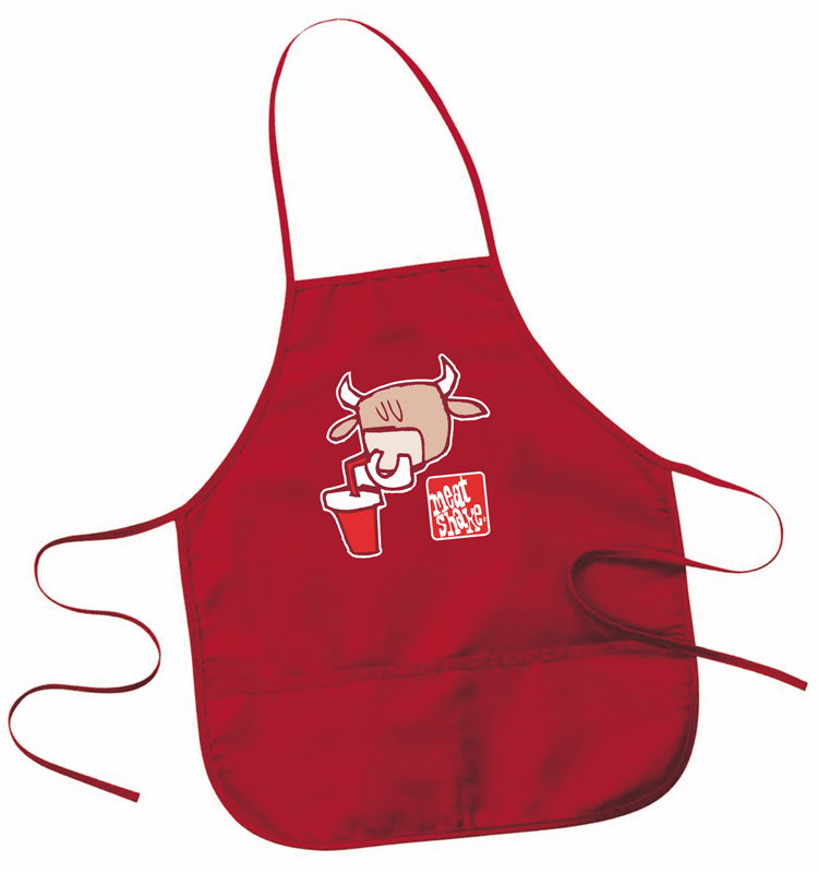Red Pocket Logo Red Two Pocket Apron by