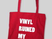 VINYL RUINED MY LIFE BAG