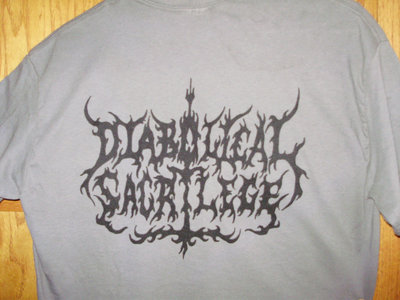 Diabolical Sacrilege Black Logo on GRAY Shirt