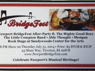 Special Rate $5 Ticket to Newport Bridgefest + Free Song Download
