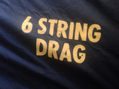 6 String Drag - Logo Tee -  Men's/Unisex - in Navy Blue and Smoke Colors
