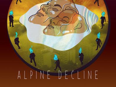 Idle Beats' Hand-Screened ALPINE DECLINE Print (+ free album download) main photo