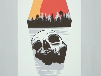 "Sons of Huns ""Willamette Skull"" Silk-screened Poster main photo"