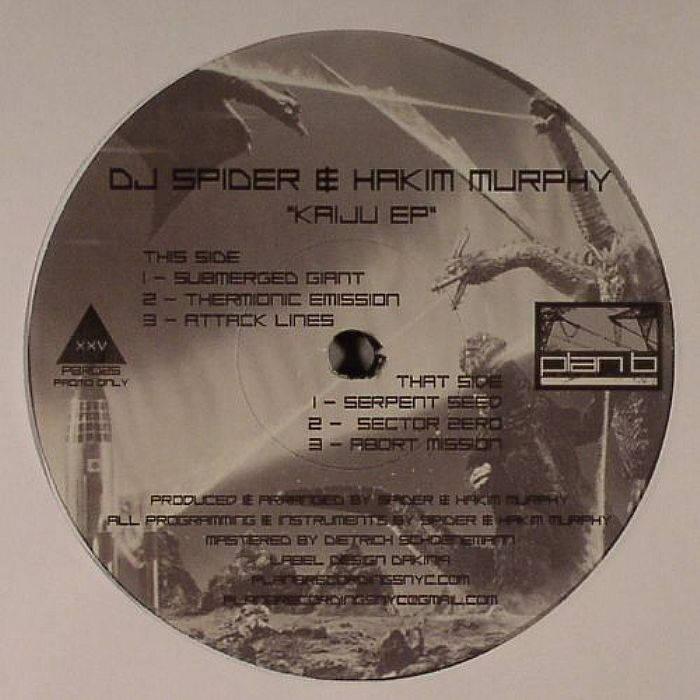 """Kaiju EP"" - DJ Spider & Hakim Murphy (12"" Vinyl) cover art"