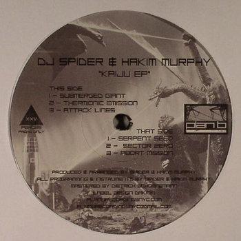 """Kaiju EP"" - DJ Spider & Hakim Murphy (Vinyl Only) cover art"