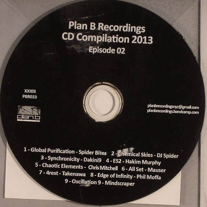 """Plan B Recordings CD Compilation 2013 Episode 02"" (CD SOLD OUT, digital now available)) cover art"