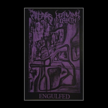 Altars / Heaving Earth Split tape cover art
