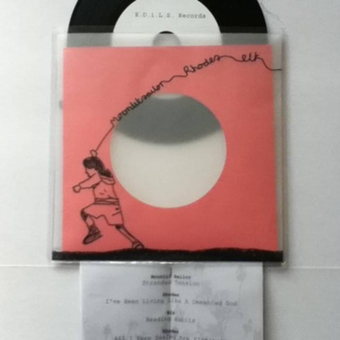E.D.i.L.S. RECORDS SPLIT SERIES # 2- Moonlit Sailor - Rhodes - Elk cover art