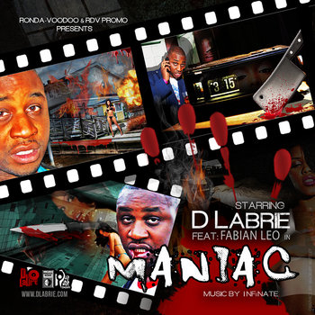 """MANIAC"" Single produced by InfiNate(MTV) cover art"