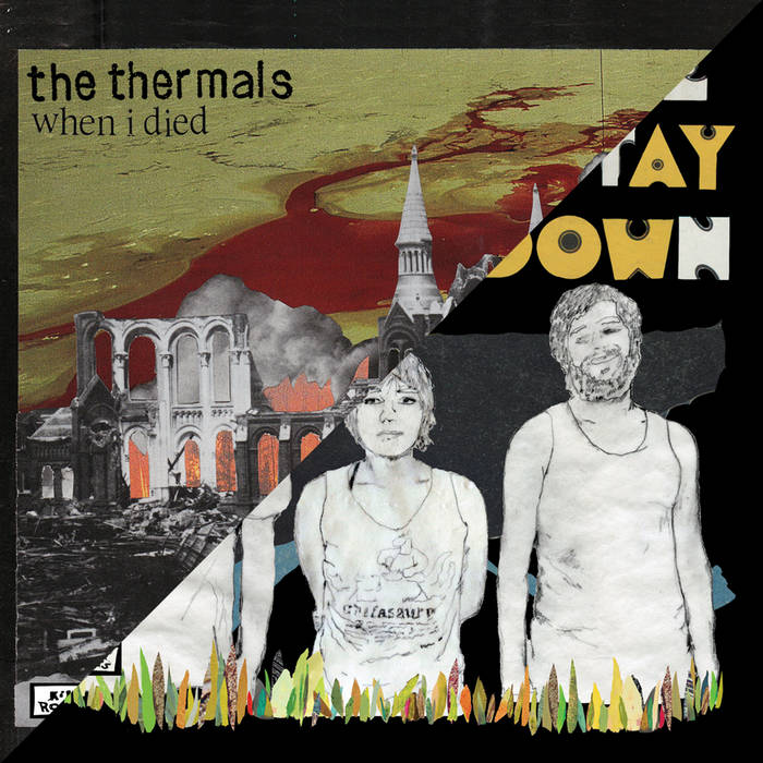 "The Thermals / Thao with the Get Down Stay Down Record Store Day 2009 7"" cover art"