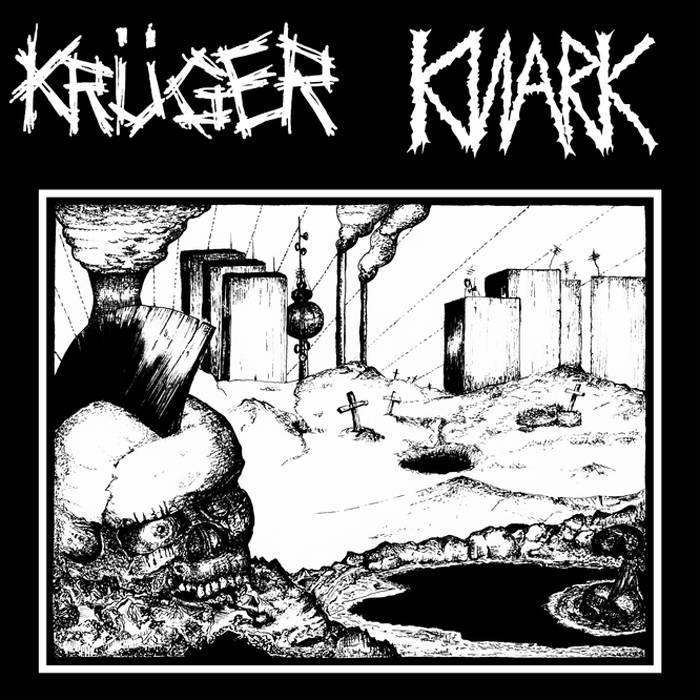 """KRÜGER/KNARK SPLIT 7"""" cover art"""