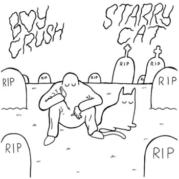 "SPLIT 7"" w/ STARRY CAT cover art"