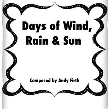 SHEET MUSIC! Days of Wind, Rain & Sun-Andy Firth cover art