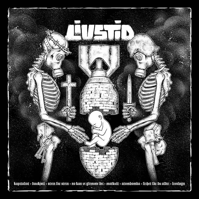 """Livstid / Khmer 10"""" split cover art"""