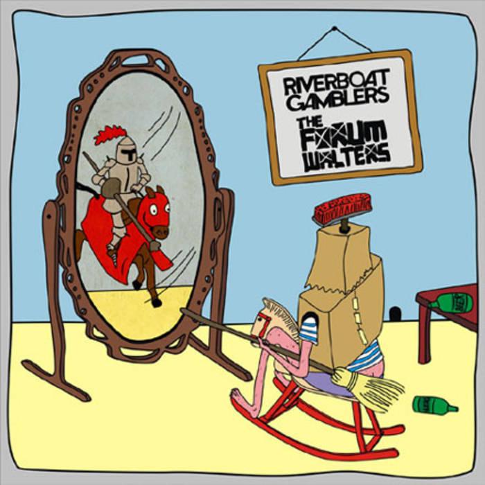 """Split 7"""" w/ Riverboat Gamblers cover art"""