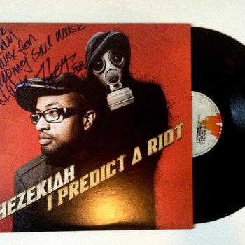 vinyl Hezekiah I predict a riot mail order autographed cover art