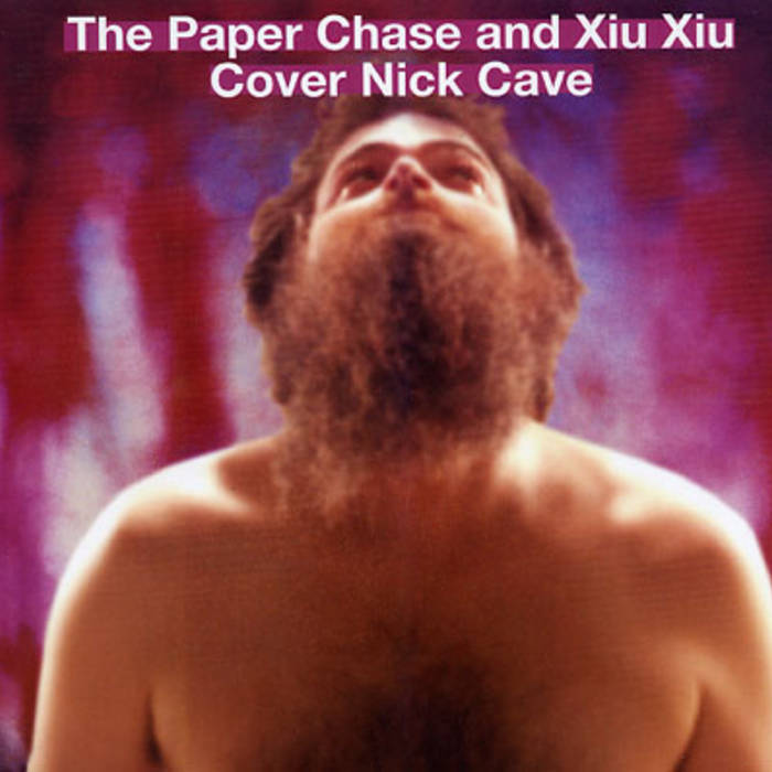 The Paper Chase and Xiu Xiu cover Nick Cave split seven inch record cover art