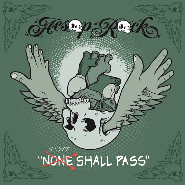 Album Cover for Scott Thorough's remix of None Shall Pass by Aesop Rock - which was the only remix anybody at the label liked but for some reason Aesop Rock didn't want any remixes put out