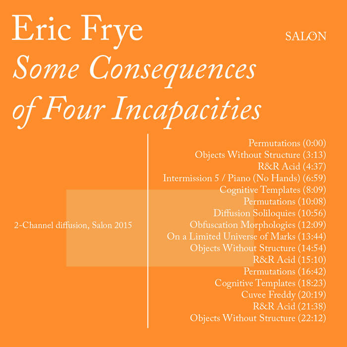 Some Consequences of Four Incapacities cover art