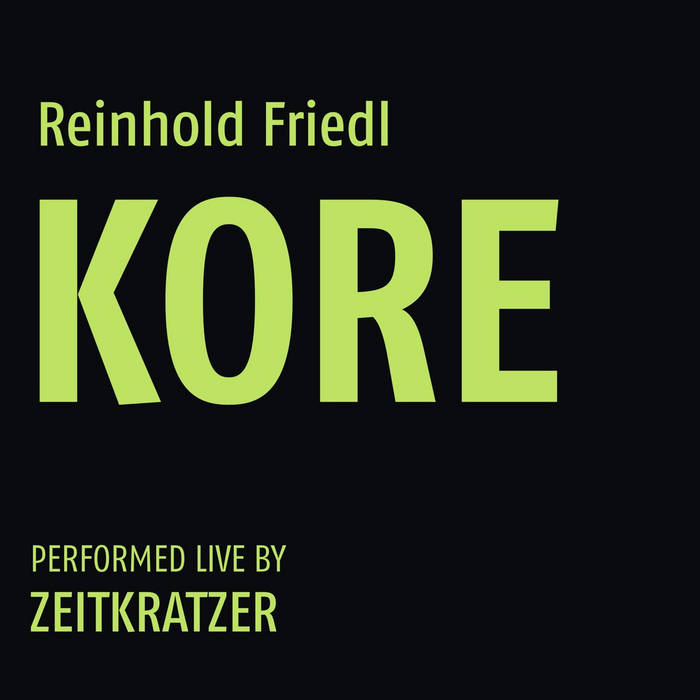 Reinhold Friedl: KORE cover art