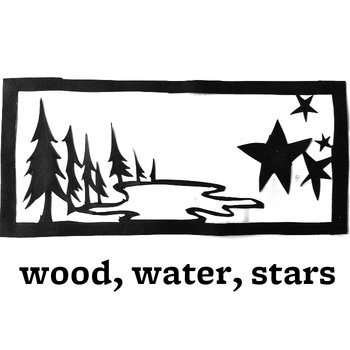wood, water, stars cover art