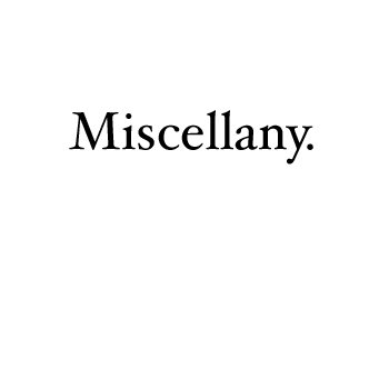 Miscellany cover art
