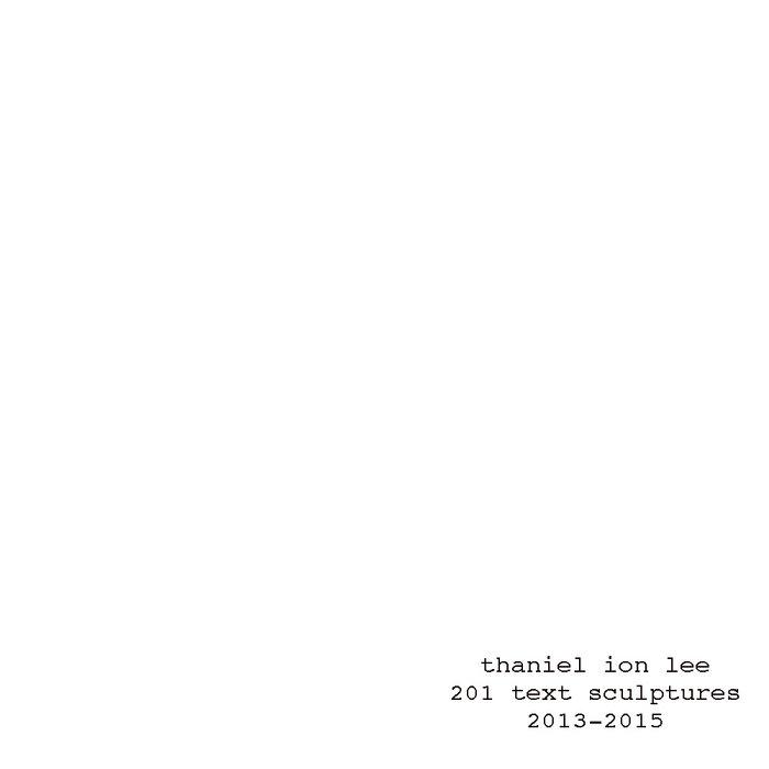 201 text sculptures cover art