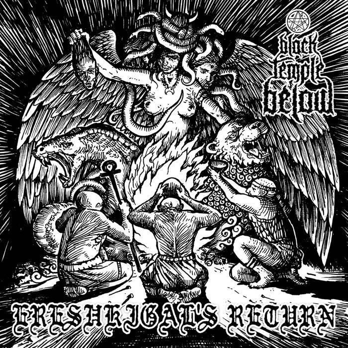 BLACK TEMPLE BELOW/ GUEVNNA split LP cover art