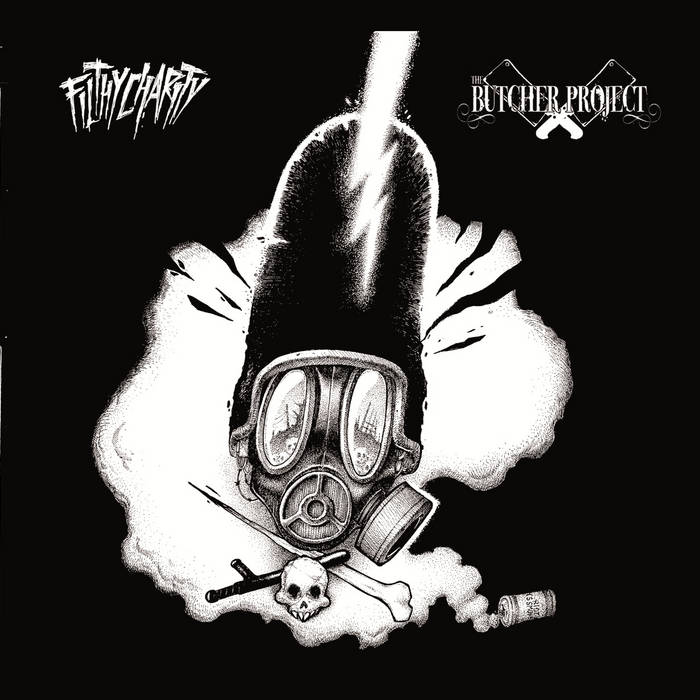 THE BUTCHER PROJECT / FILTHY CHARITY split cover art
