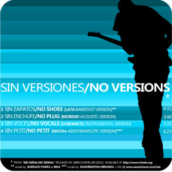 Sin Versiones/No Versions EP cover art