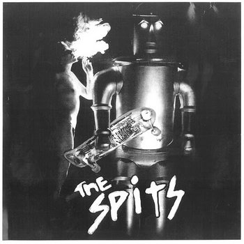 "THE SPITS ""self-titled #1"" LP cover art"