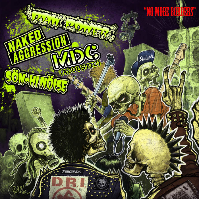 TUPA 8 No More Borders 4 Way Split cover art