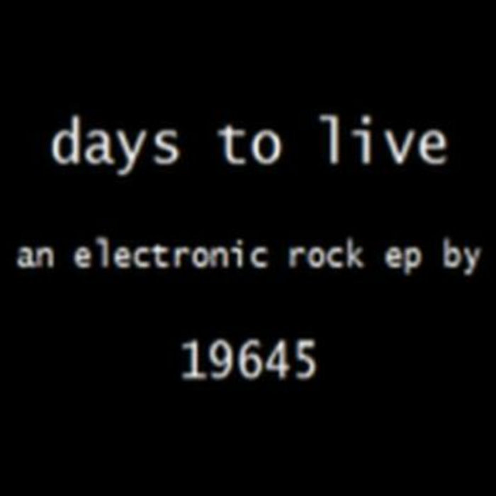 days to live ep (remaster) cover art