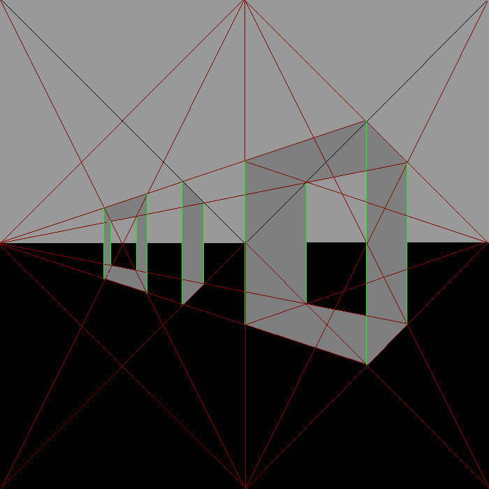 2 Vanishing Points with 0 Perspective, 1 Level within 6 Degrees of Separation. cover art