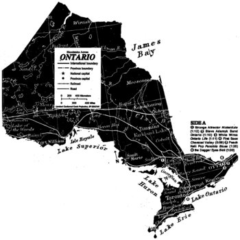 "MCR017 - Bloodstains Across Ontario 7"" cover art"