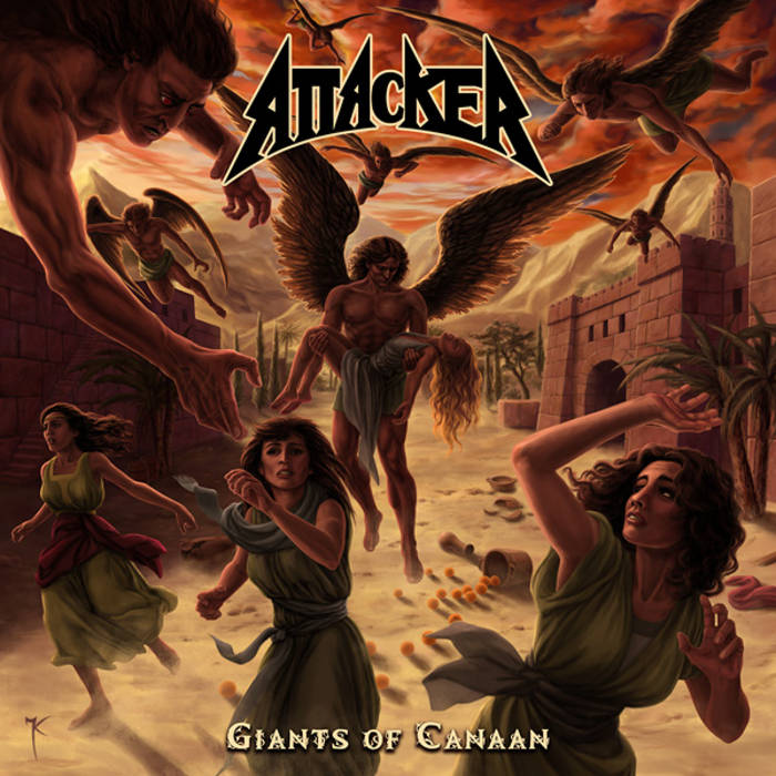 "ATTACKER ""Giants of Canaan"" cover art"