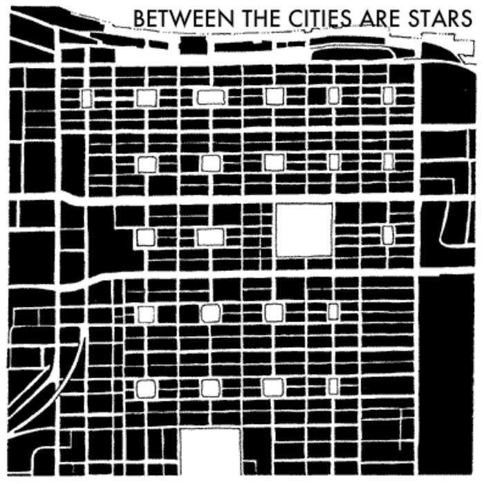 Between The Cities Are Stars - White Red Black cover art